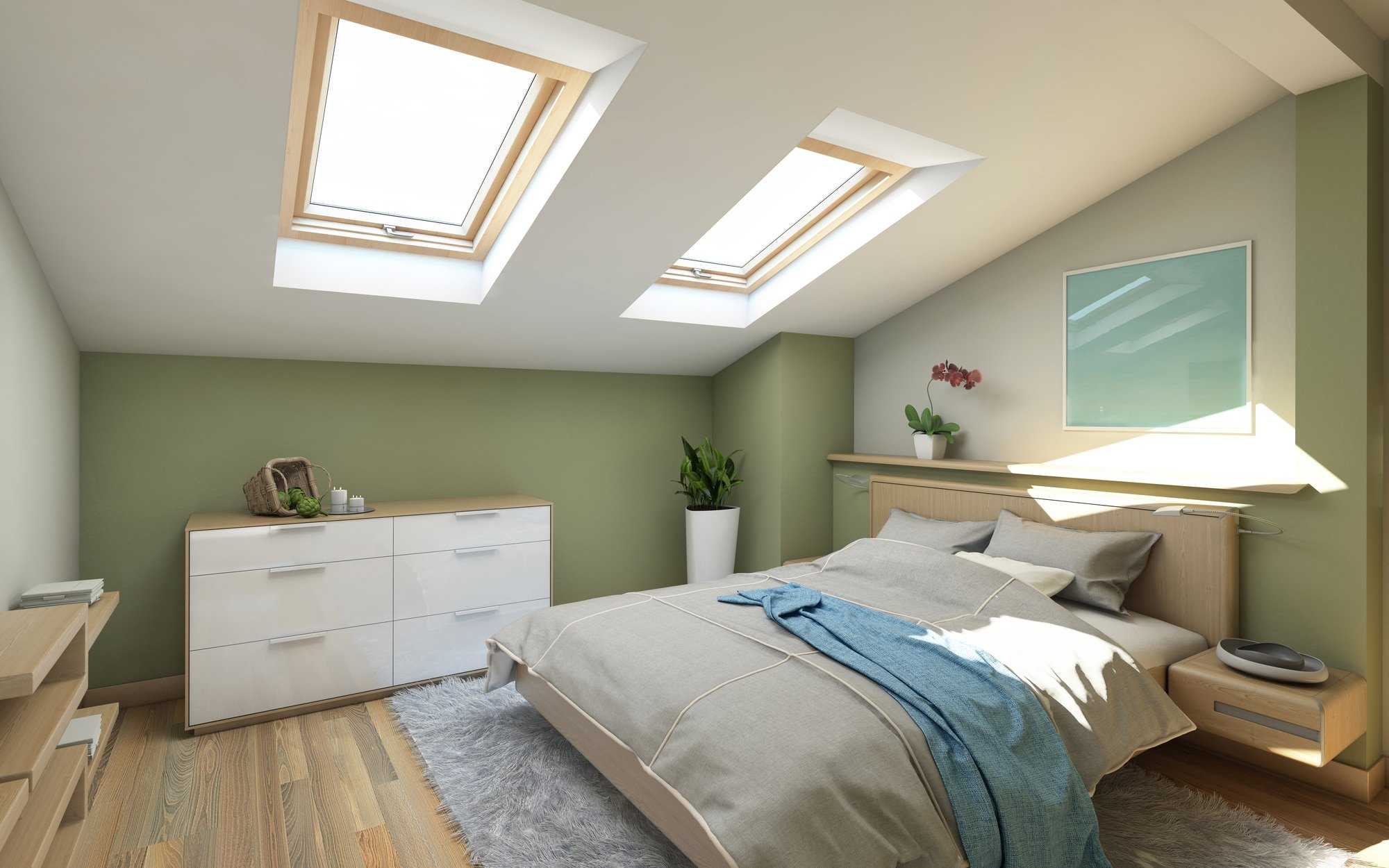 Bedroomin Green On The Attic