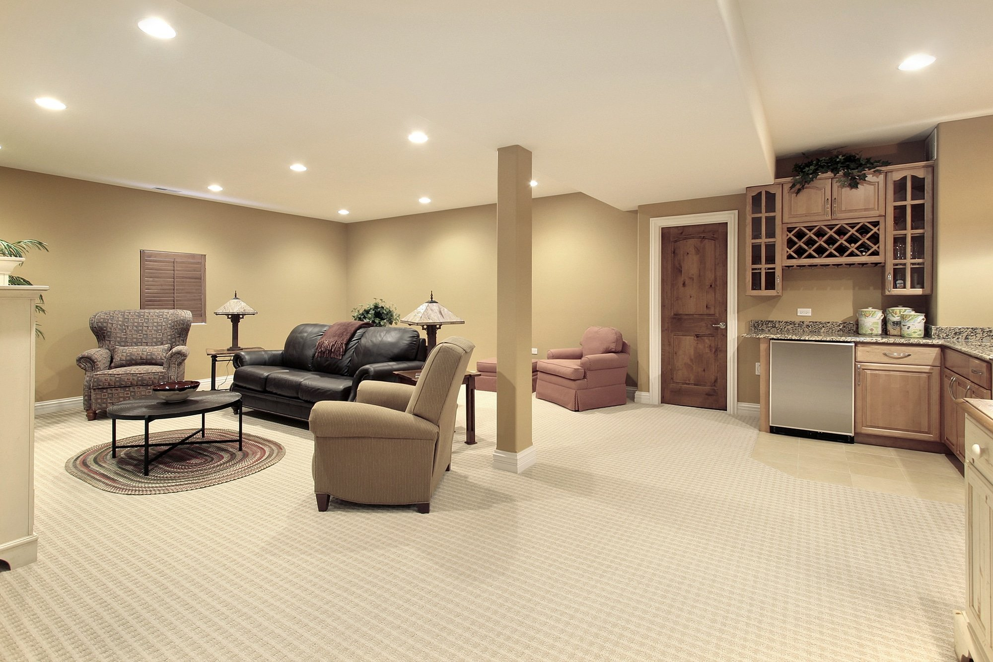 Basement With Kitchen Area