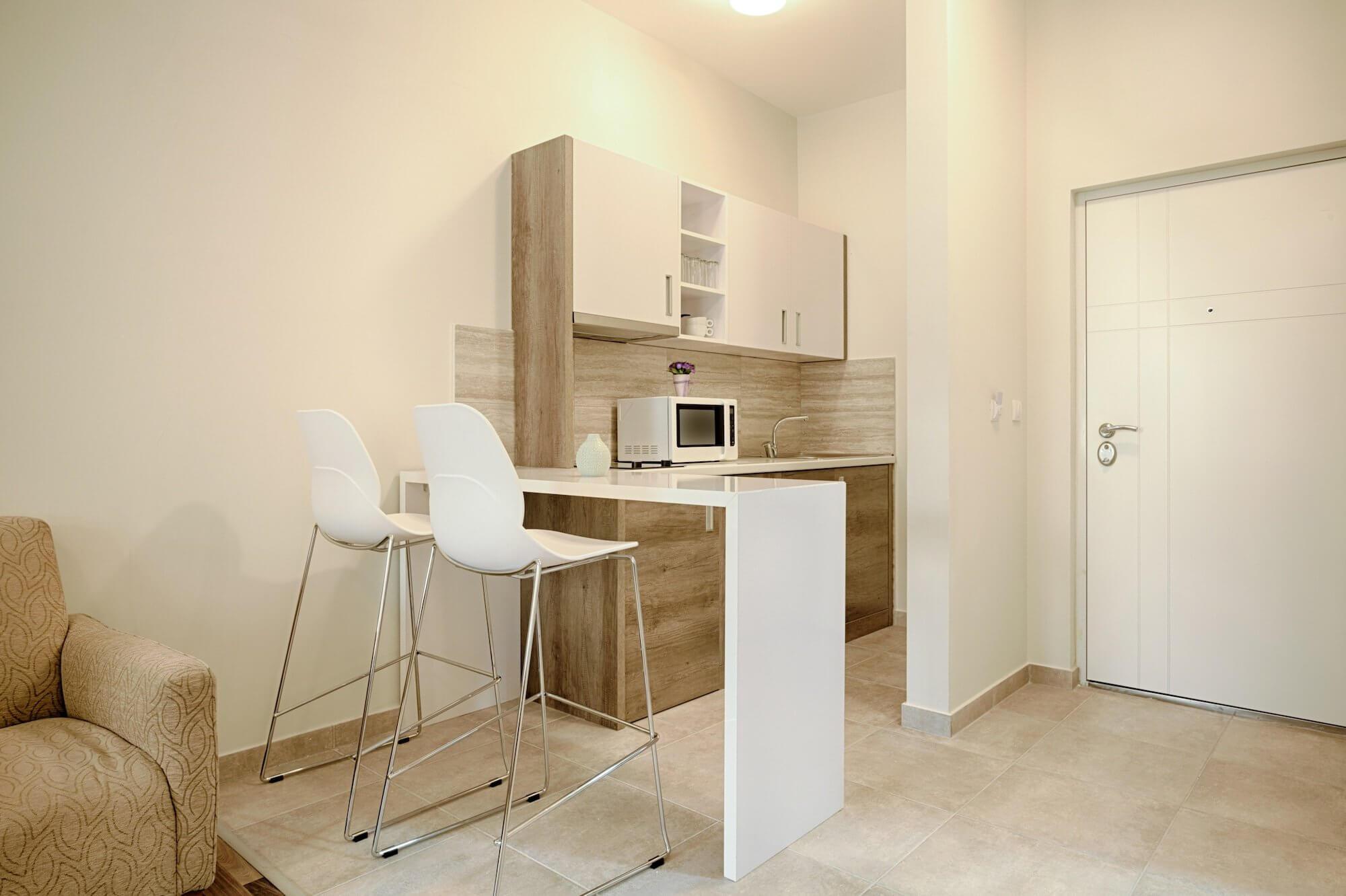 Interior Of A Small Apartment Kitchen