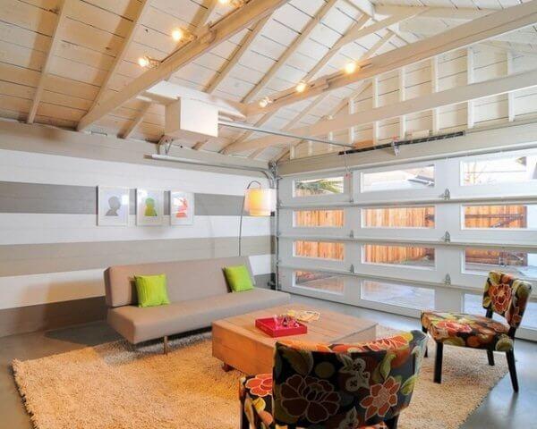 Unique Garage Conversion Ideas Living Room Ideas Modern Gray Sofa Modern Lighting